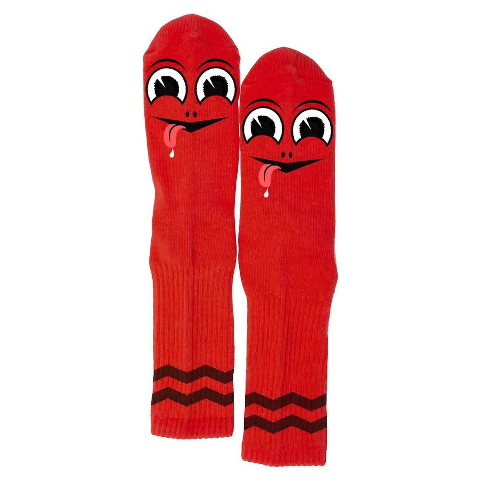 Toy Machine Happy Turtle Socks, Red, OSFA