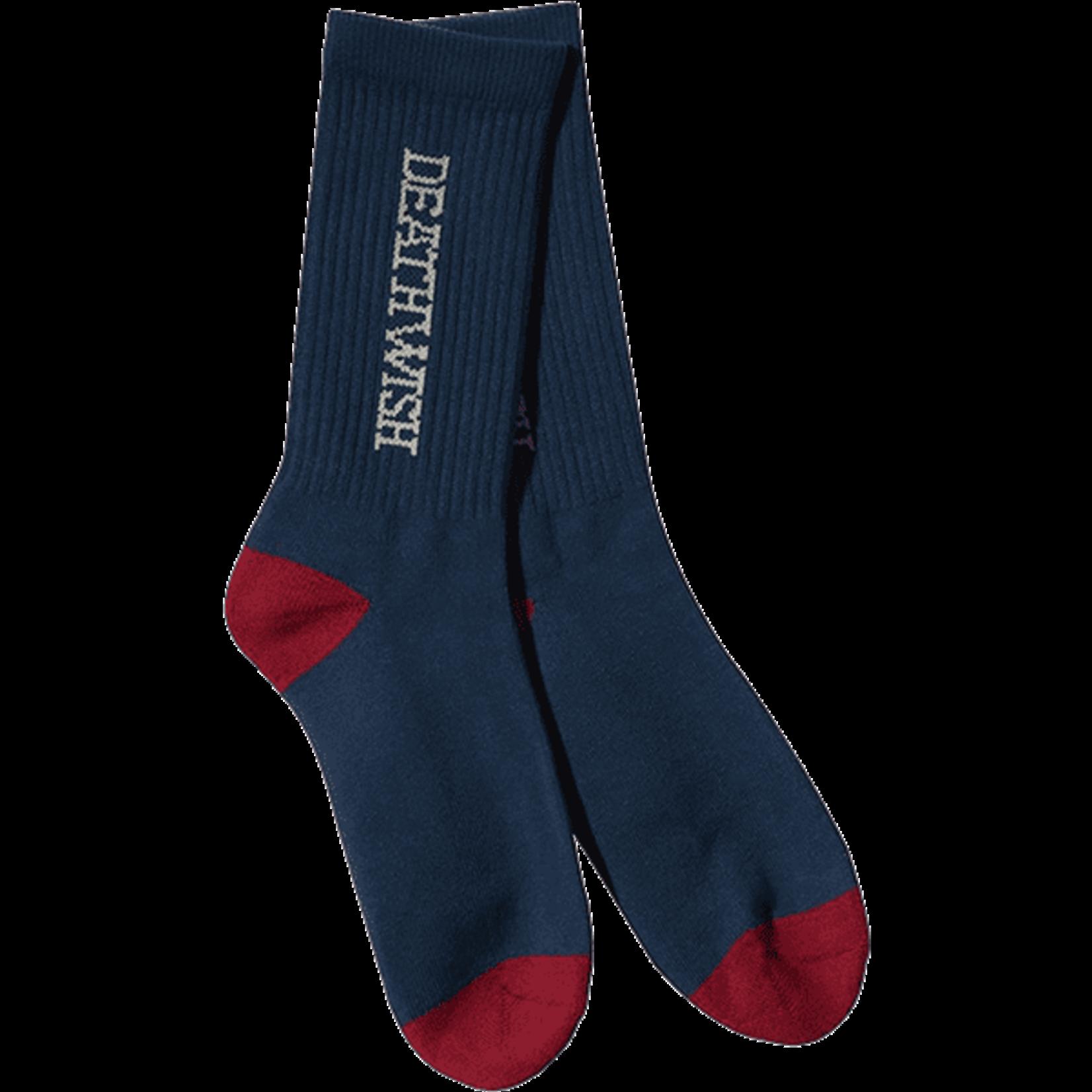 Deathwish Deathwish Antidote Crew Socks, Navy/Red, OSFA