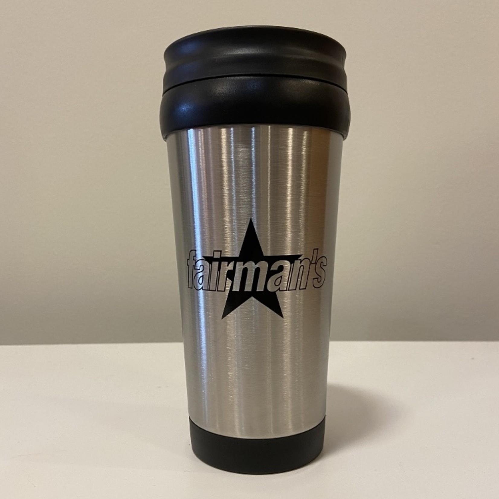 Fairman's Fairman's Star Logo Thermos, Silver/Black,