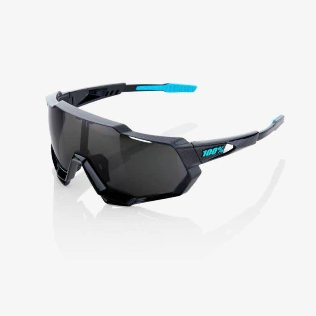 100% 100% Speedtrap Shiny Blk/Blk Mirror Lens