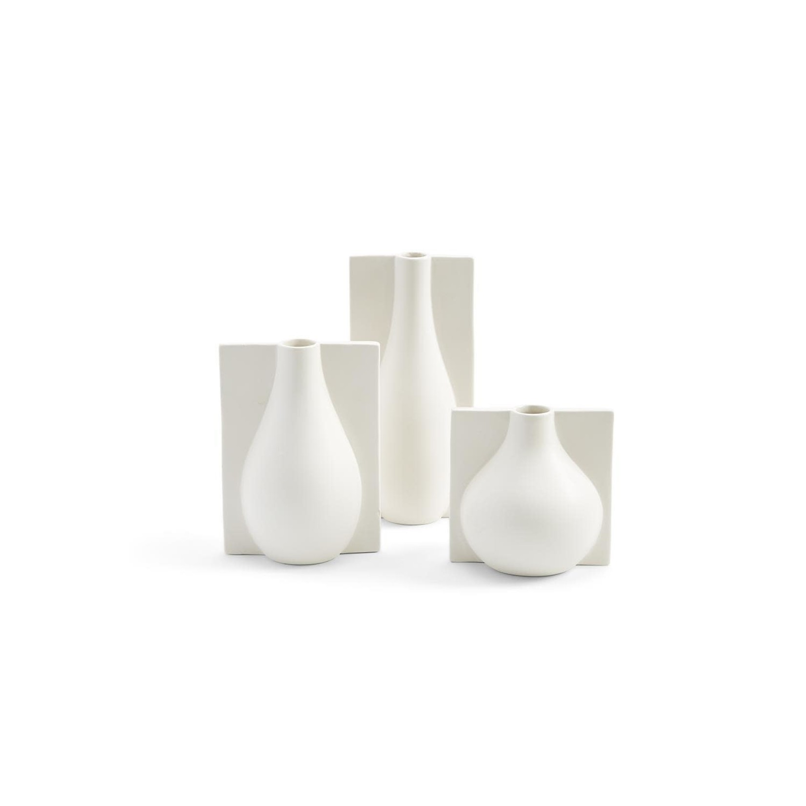 TWOS COMPANY WHITE VASE ASSORTED
