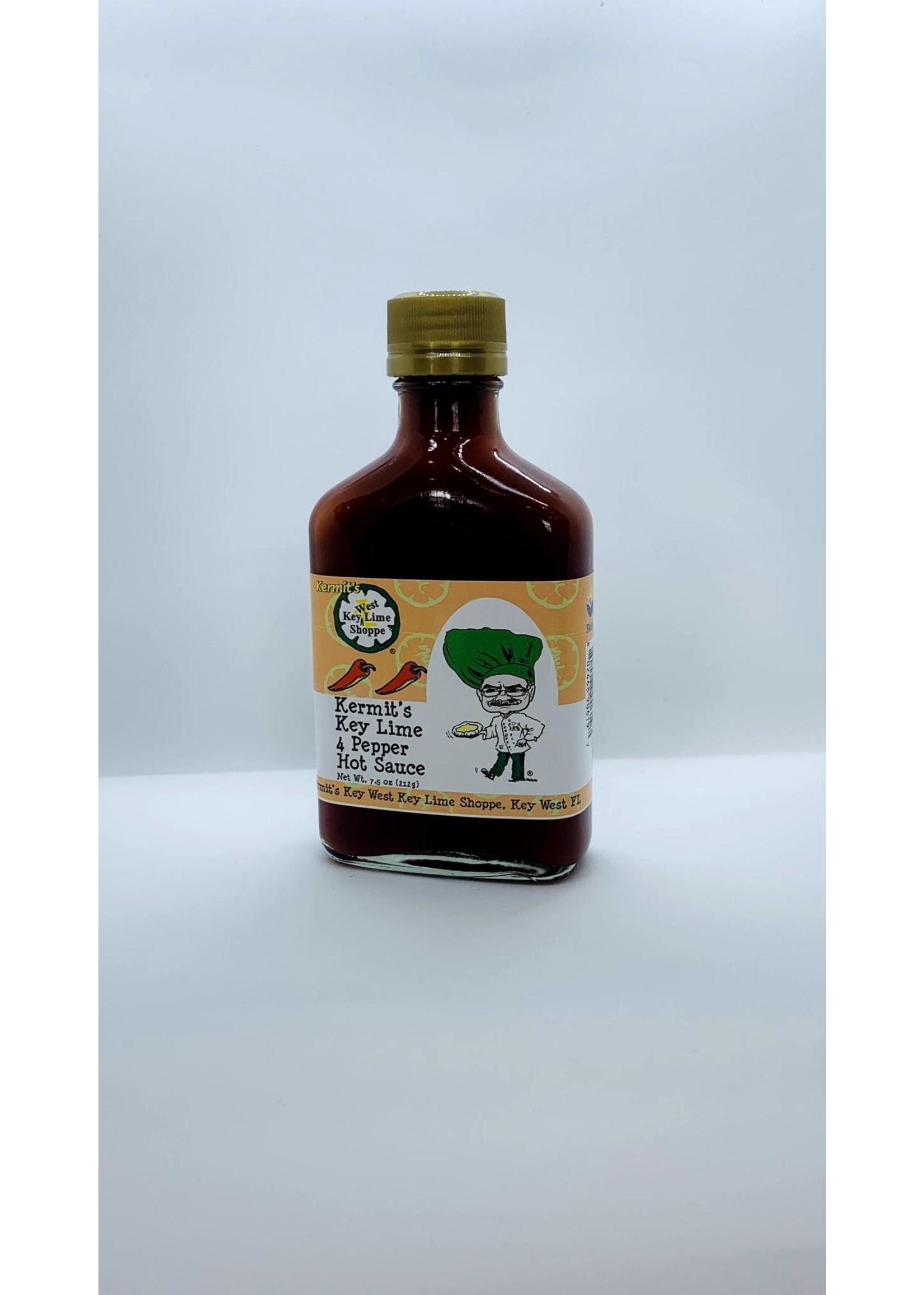 Kermit's Key Lime Four Pepper Hot Sauce 7.5 oz