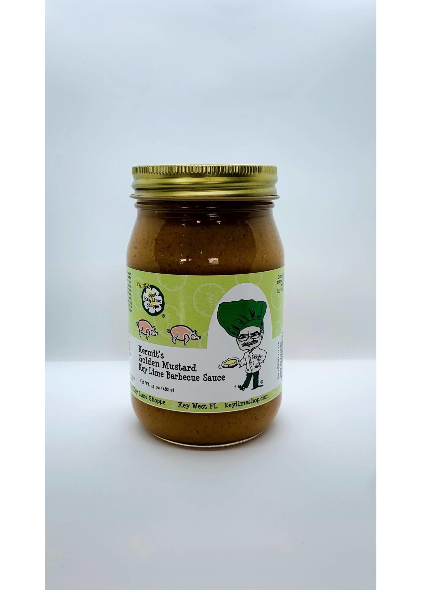 Kermit's Golden Mustard Key Lime Barbecue Sauce  17 oz.