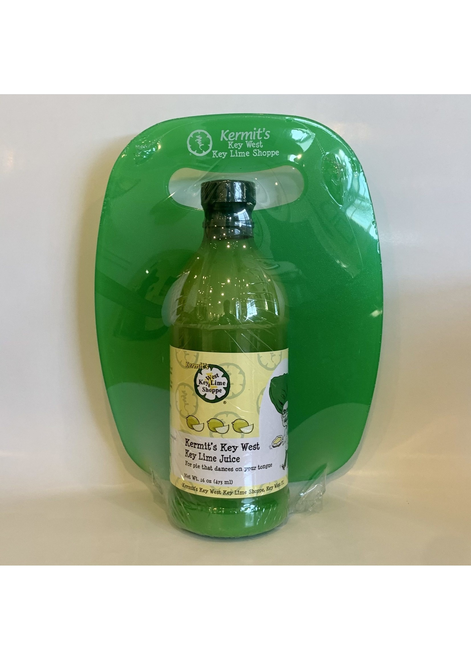 Kermit's Key Lime Juice/Cutting Board Gift Set