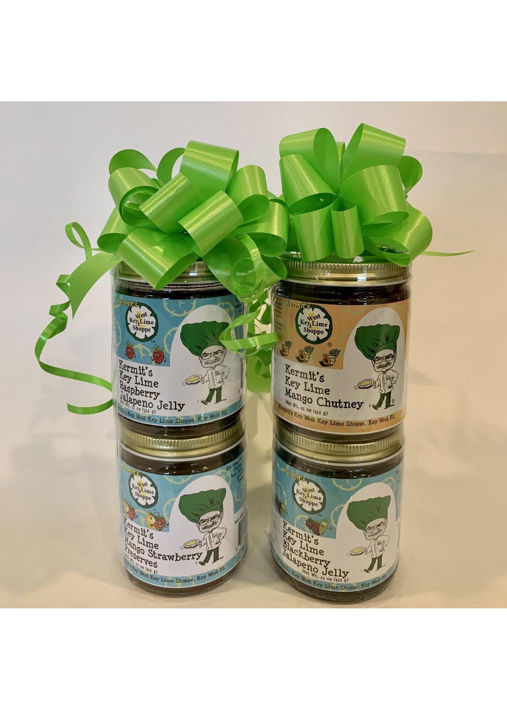 Kermit's Key Lime Jelly Duo - Mango Strawberry Preserves & Raspberry Jalapeno Jelly