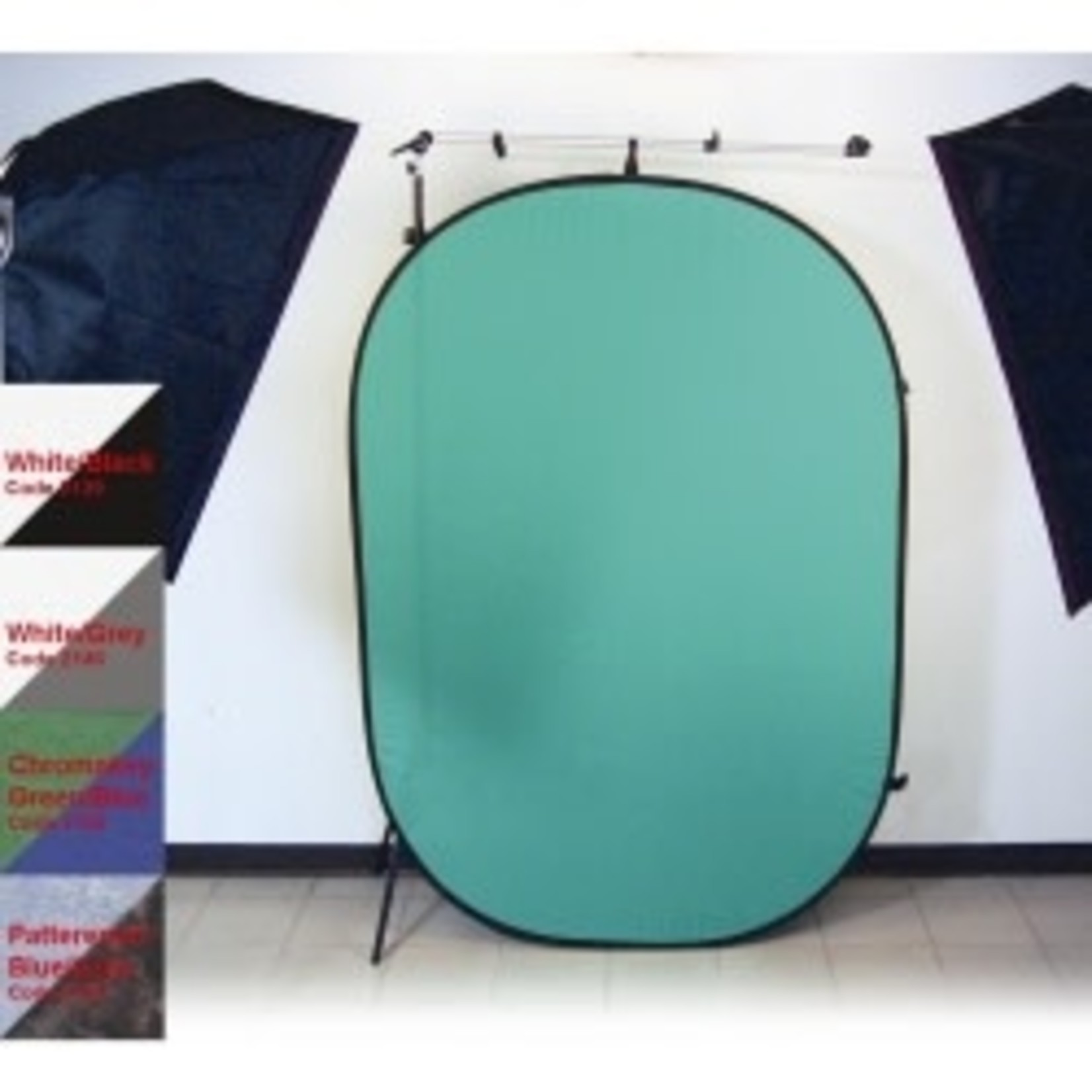 ProMaster Solid Pop-Up Background 6'x7' - Chromakey Green / Blue 2 - sided - Chromakey Green/Chromakey Blu