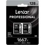 Lexar Lexar 1667X SDHC 128GB 2- Pack Memory Card
