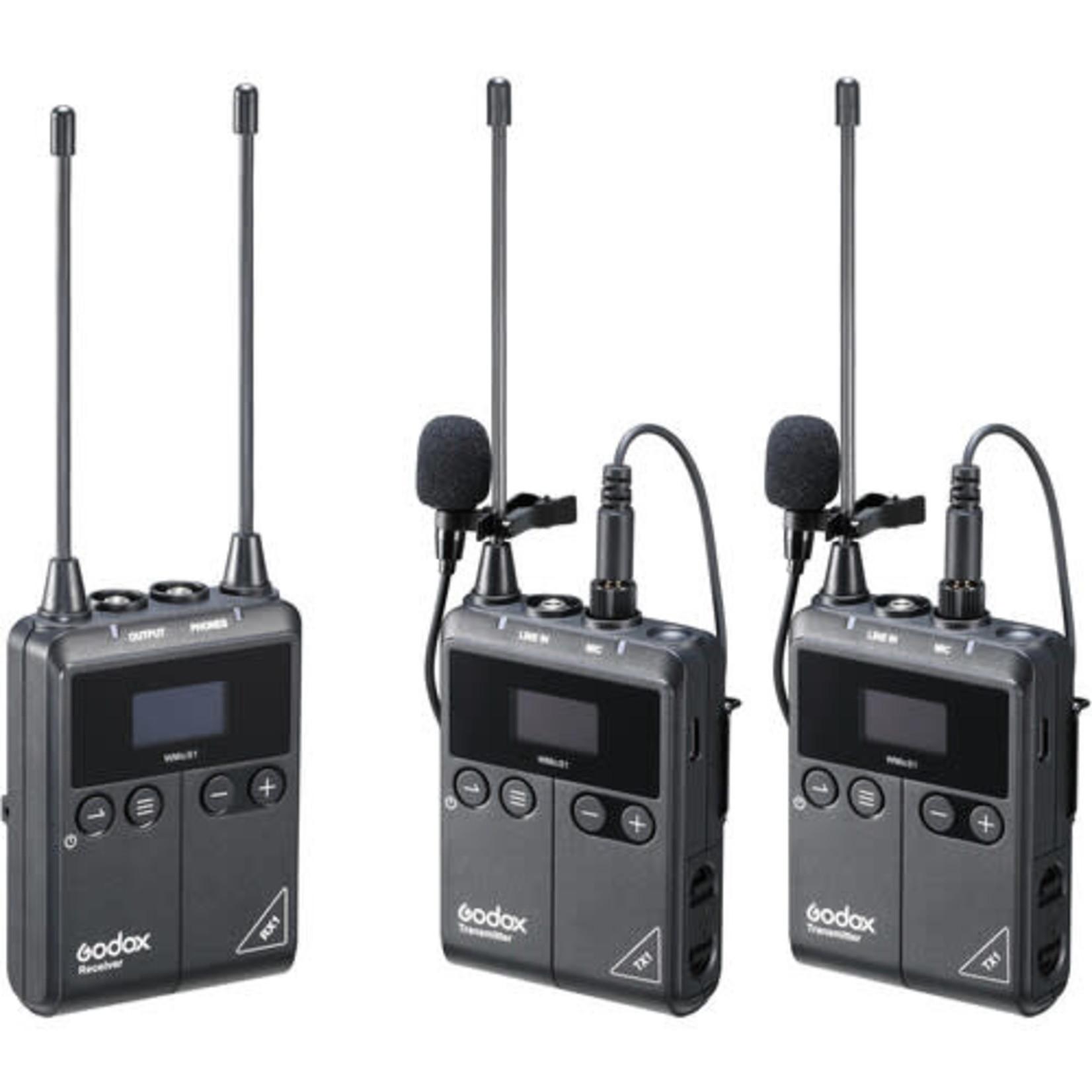 Godox Godox WmicS1 UHF Wireless Microphone System Kit 2