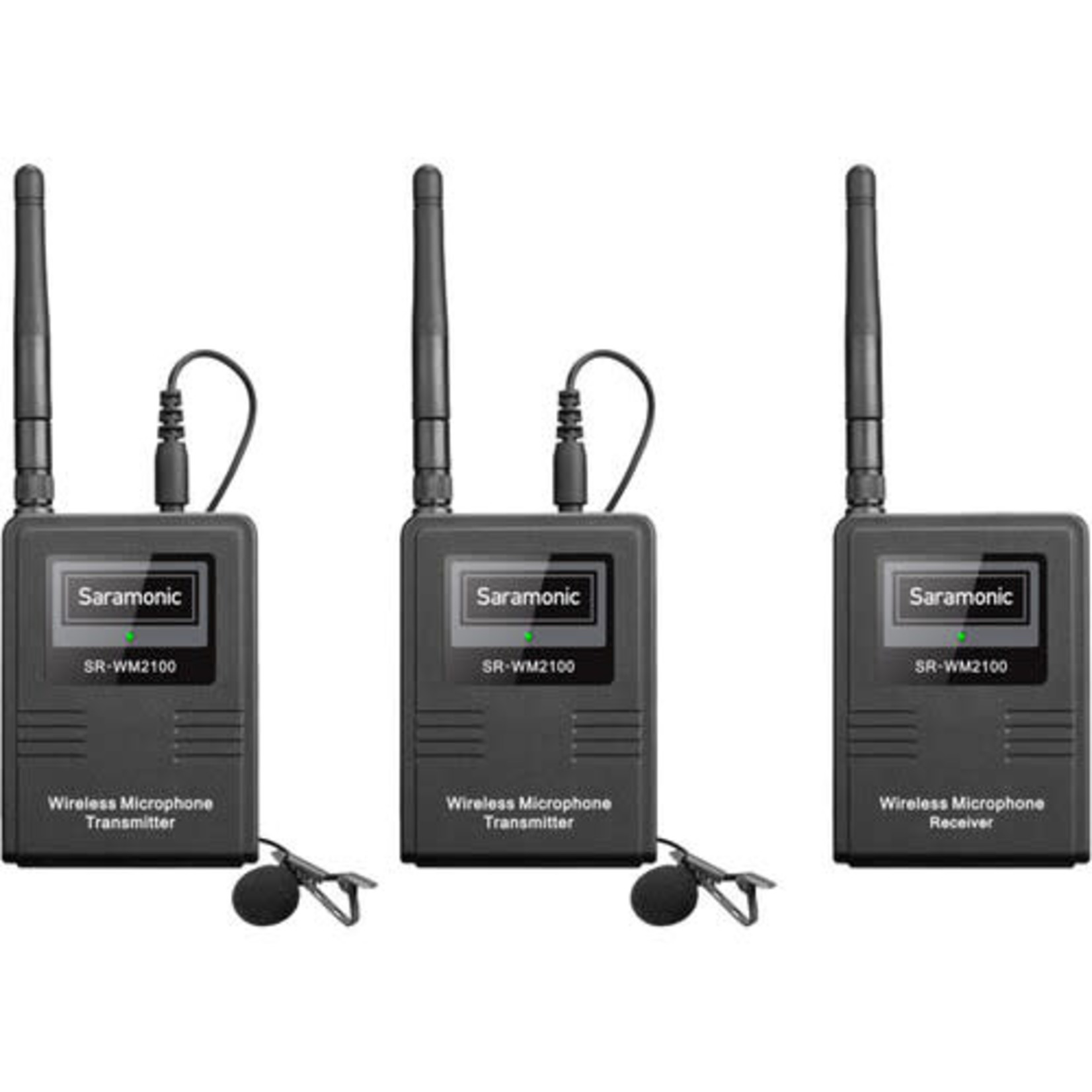 Saramonic Saramonic SR-WM2100 2-Person Camera-Mount Digital Wireless Omni Lavalier Microphone System for Cameras and Smartphones (2.4 GHz)