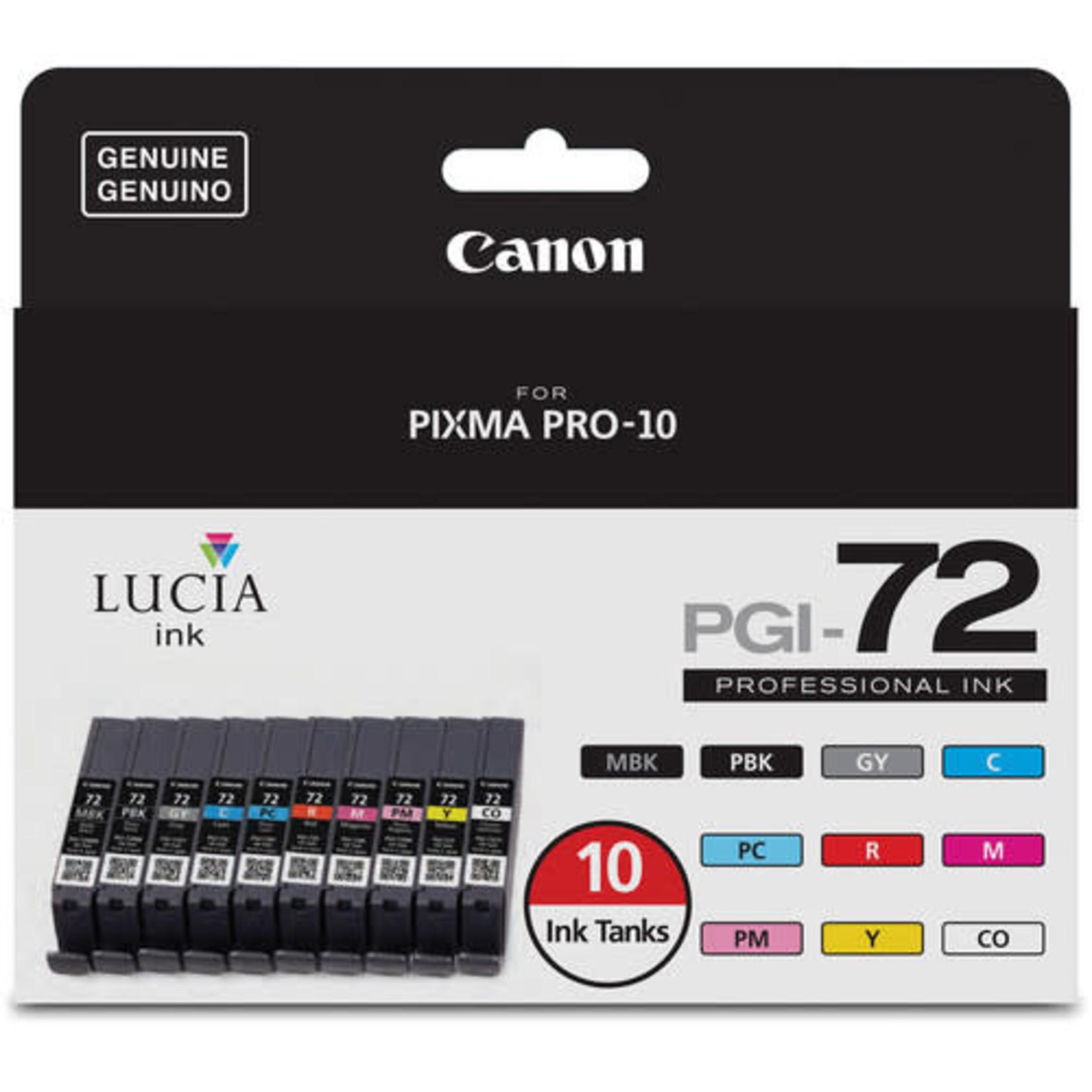 Canon Canon LUCIA PGI-72 10-Color Ink Tank Value Pack