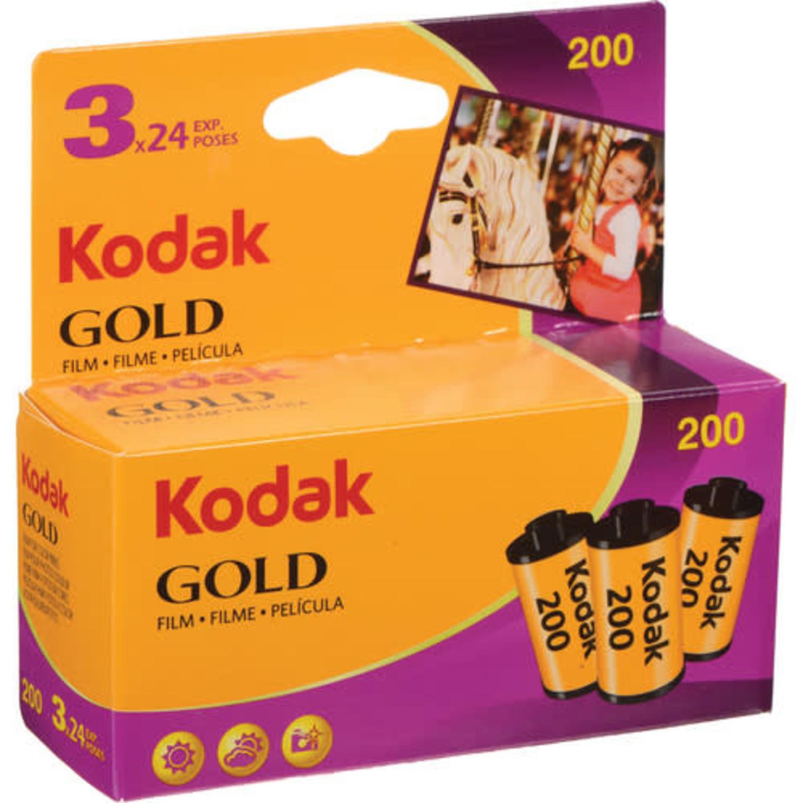 Kodak Kodak GOLD 200 Color Negative Film (35mm Roll Film, 24 Exposures, 3-Pack)