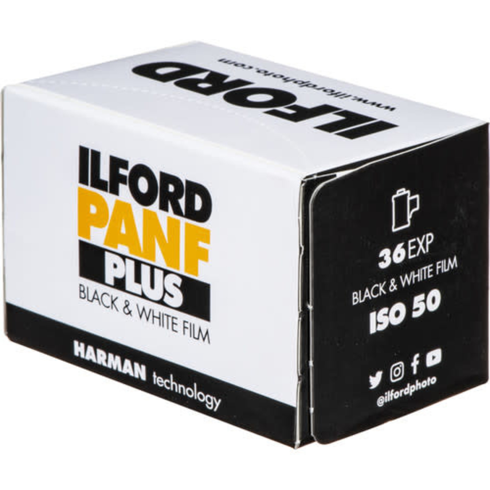 Ilford Ilford Pan F Plus Black and White Negative Film (35mm Roll Film, 36 Exposures)