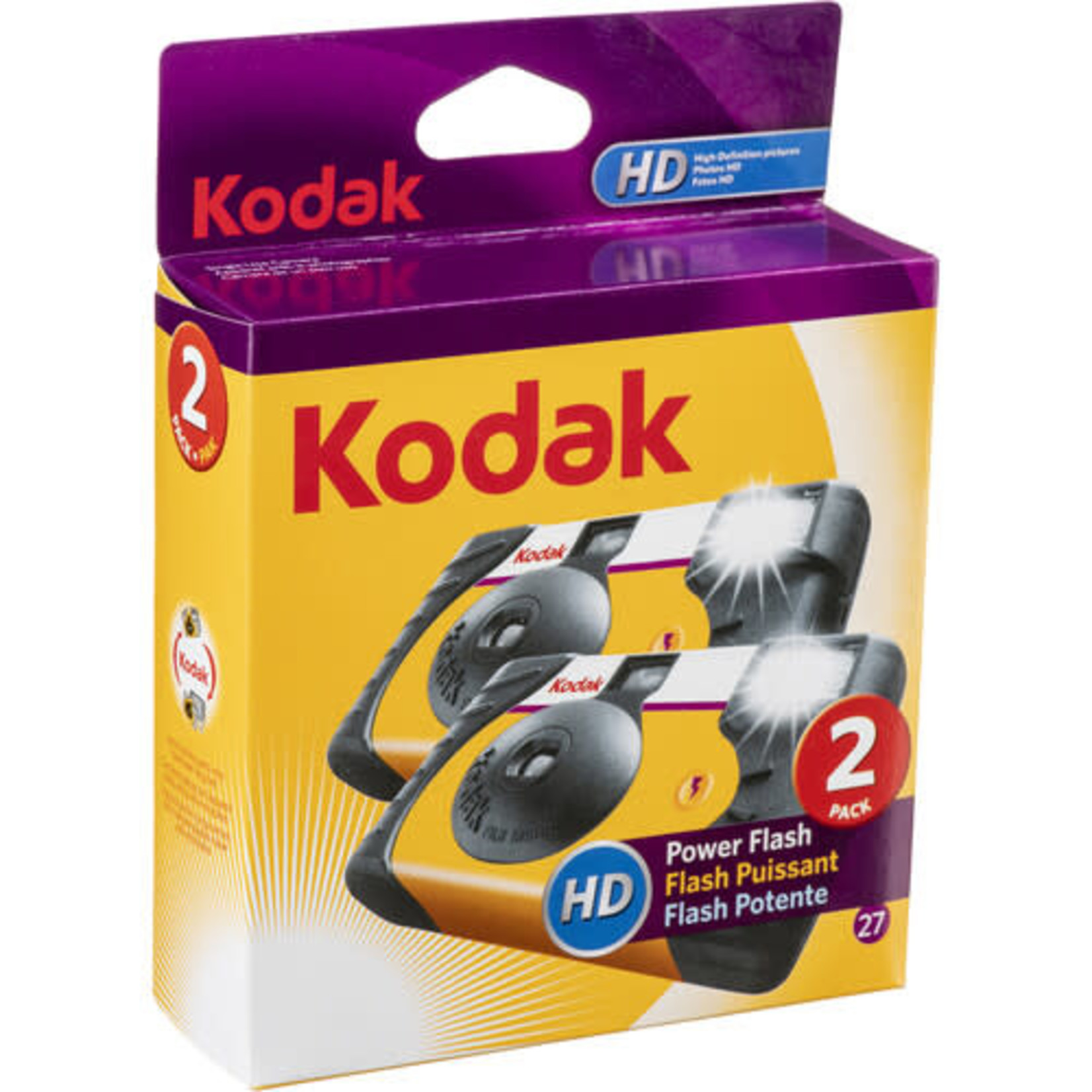 Kodak Kodak Power Flash Single-Use Camera (27 Exposures, 2-Pack)