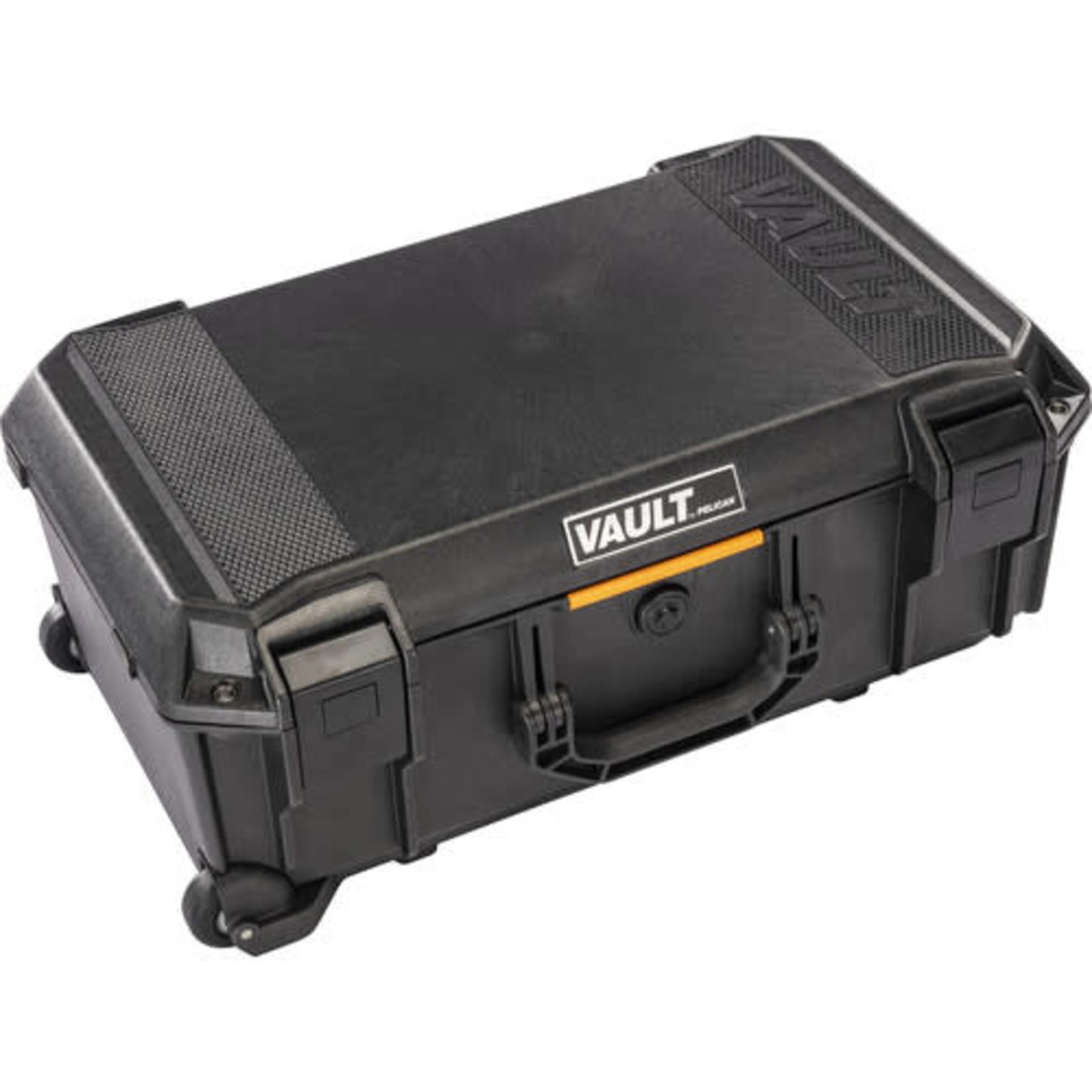 Pelican Pelican V525 Vault Rolling Hard Case with Padded Divider Insert (Black)
