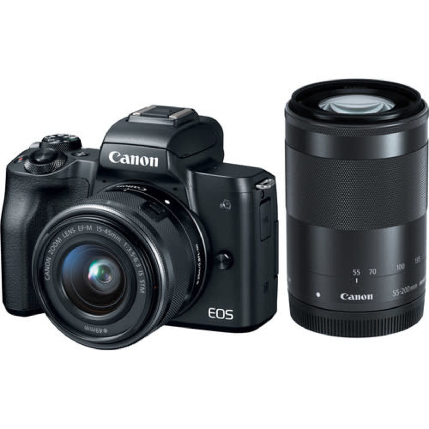 Canon Canon EOS M50 Mirrorless Digital Camera with 15-45mm and 55-200mm Lenses (Black)