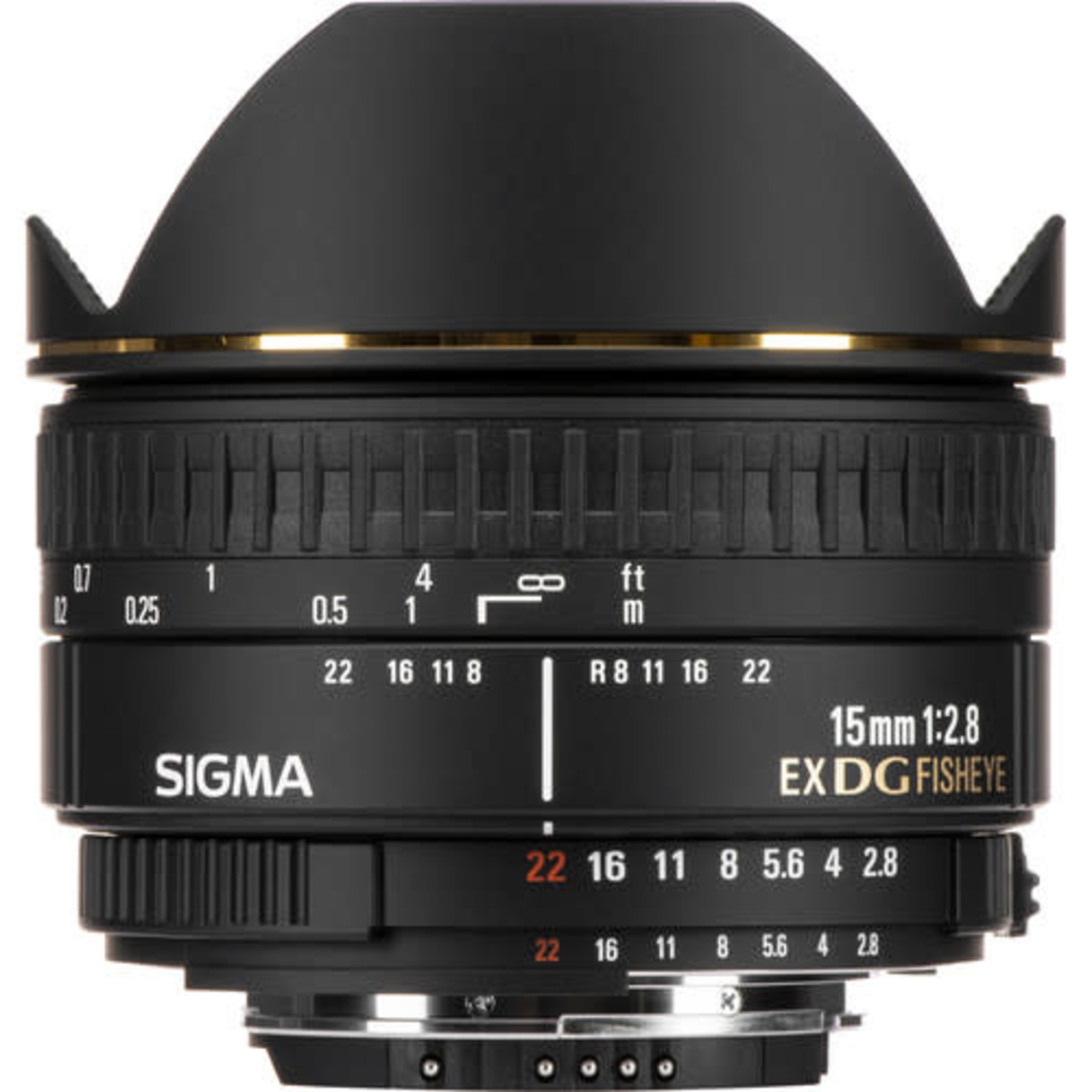 Sigma Sigma 15mm f/2.8 DG Fisheye AF Lens for Nikon (Crop)