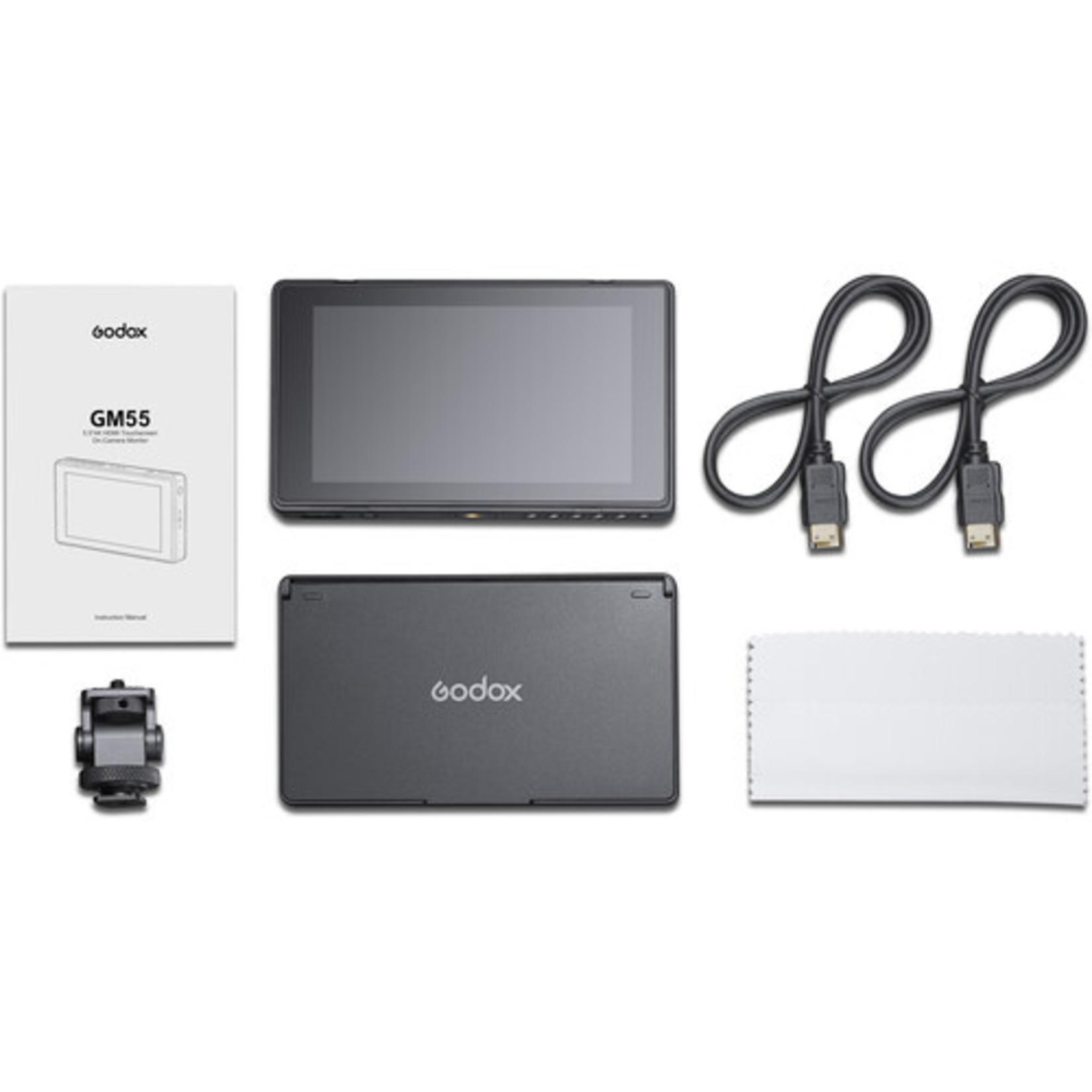 "Godox Godox 5.5"" 4K HDMI Touchscreen On-Camera Monitor"