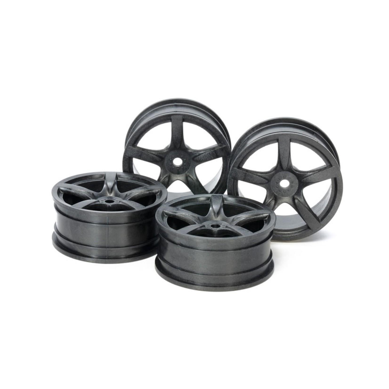 Tamiya 24mm Med Narrow 5 sp Wheels (black)