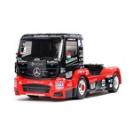 Tamiya This R/C model recreates the Mercedes Actros as raced by the Tankpool24 team in the 2019 ETRC (European Truck Racing Championship). This specific recreation depicts the truck that carried the team to 4th place in the team standings with veteran Hungarian