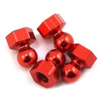 Calandra Racing Concepts (CRC) Damper Tube Hex Ball Studs (Red) (4)