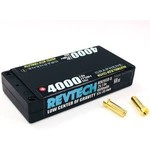 Trinity Revtech 2S 7.6v 4000mah 55c LCG Modified Motor Graphene LiPo Hi-Voltage Battery Pack w/ 5mm Bullets