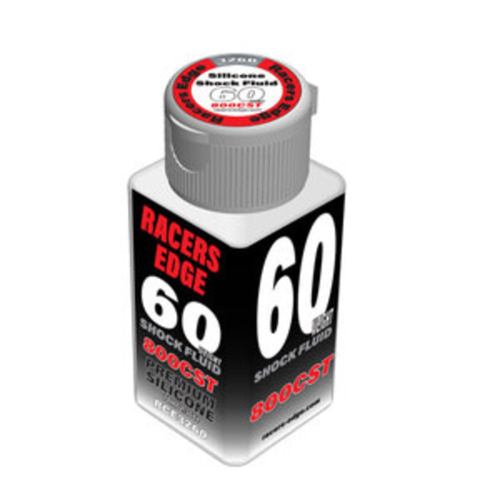 Racers Edge 60 Weight, 800cSt, 70ml 2.36oz Pure Silicone Shock Oil