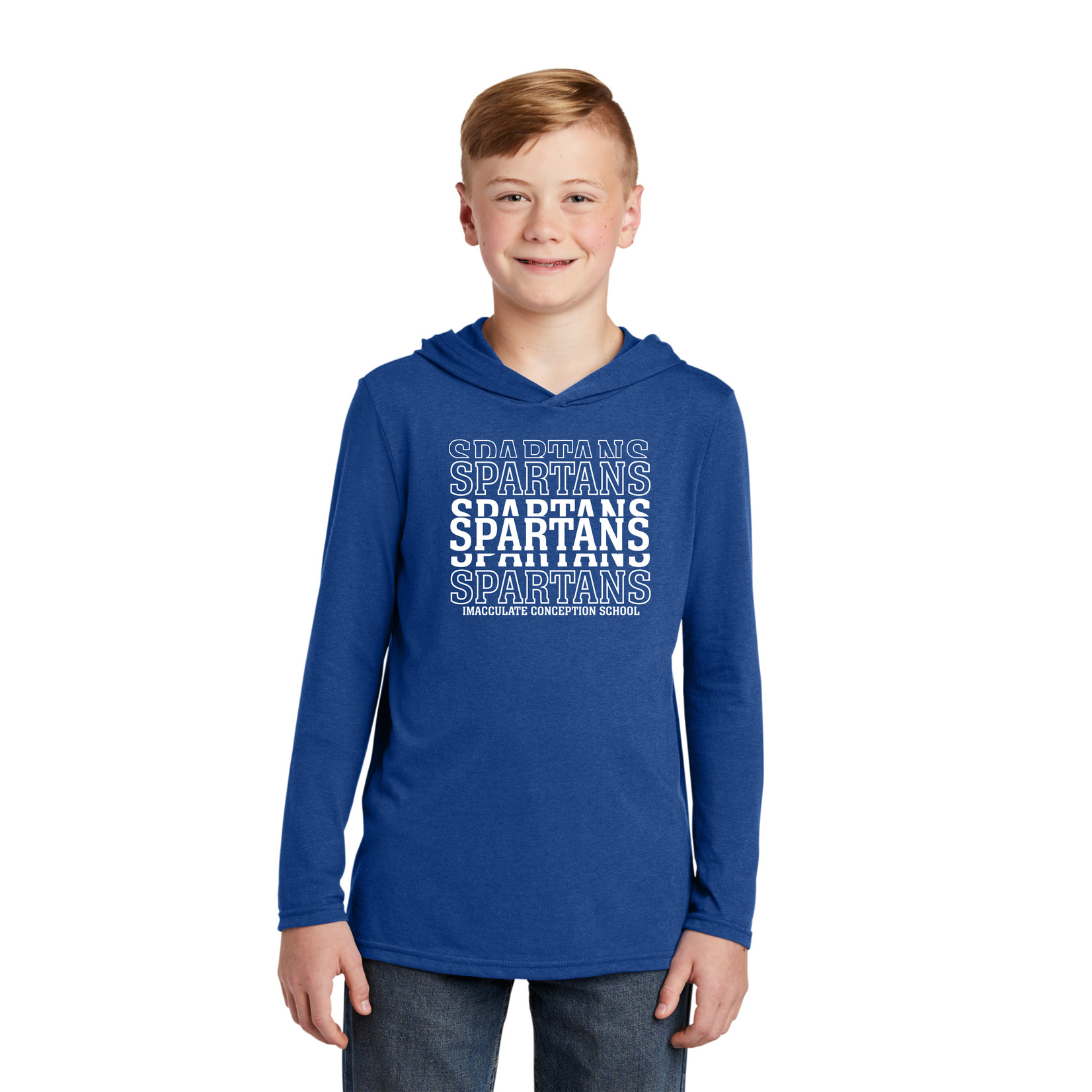 District YOUTH Long Sleeve Hooded Tee