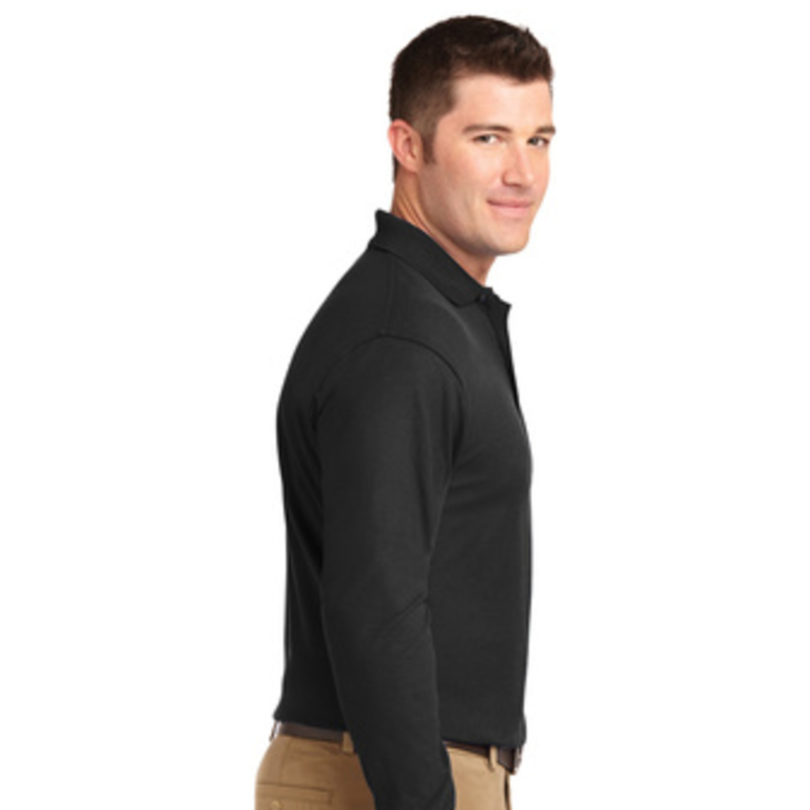 Port Authority Silk Touch Long Sleeve Polo K500LS