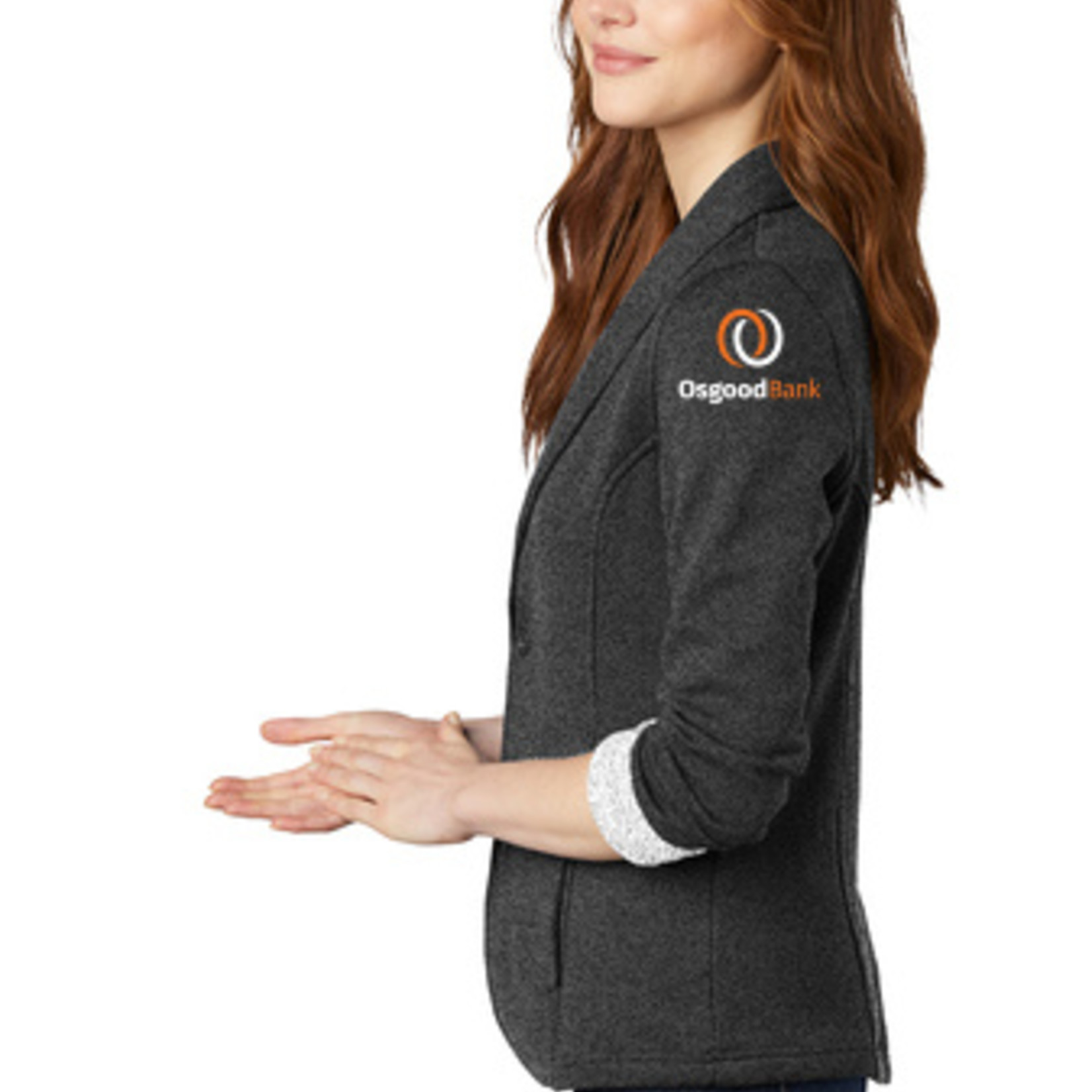 Port Authority Ladies Fleece Blazer L298 Charcoal Heather