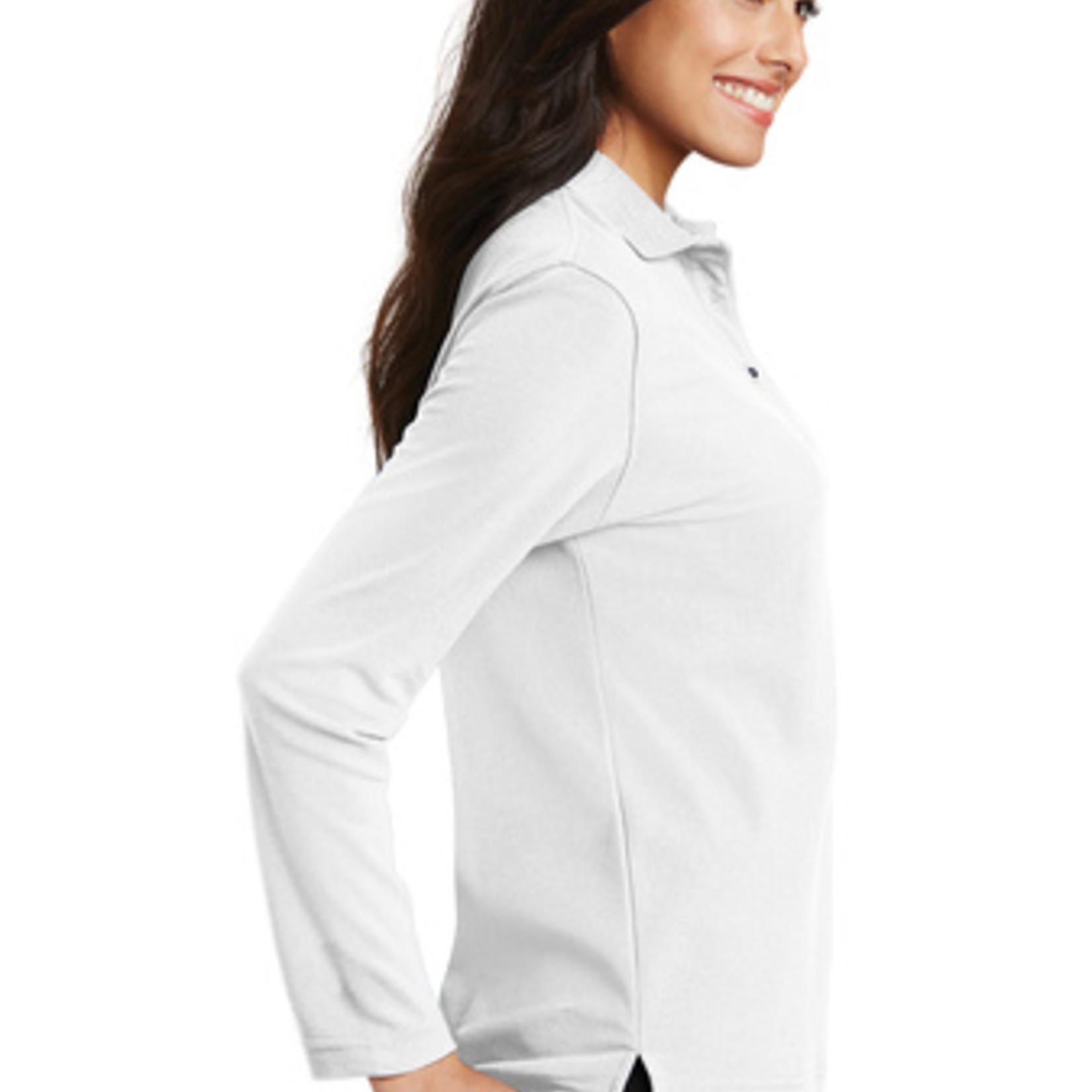 Port Authority Ladies Silk Touch Long Sleeve Polo L500LS
