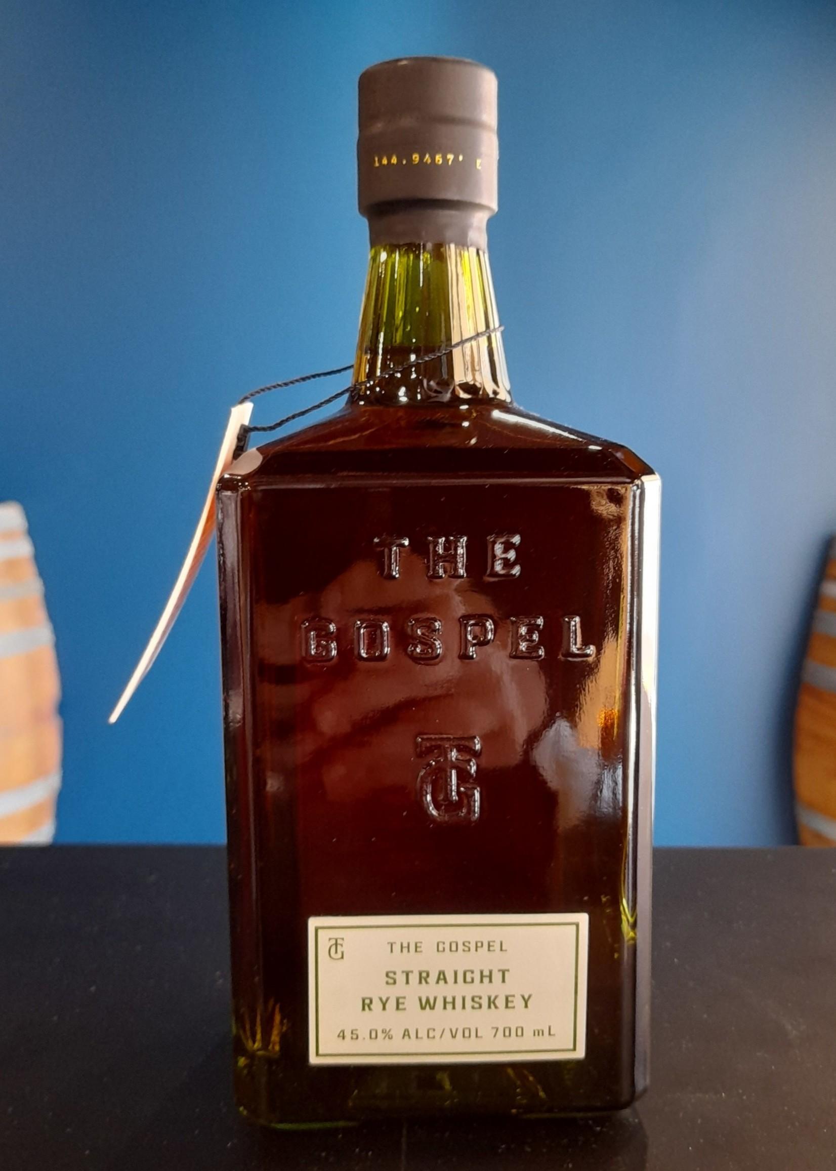 The Gospel Distillery Gospel Straight Rye Whiskey