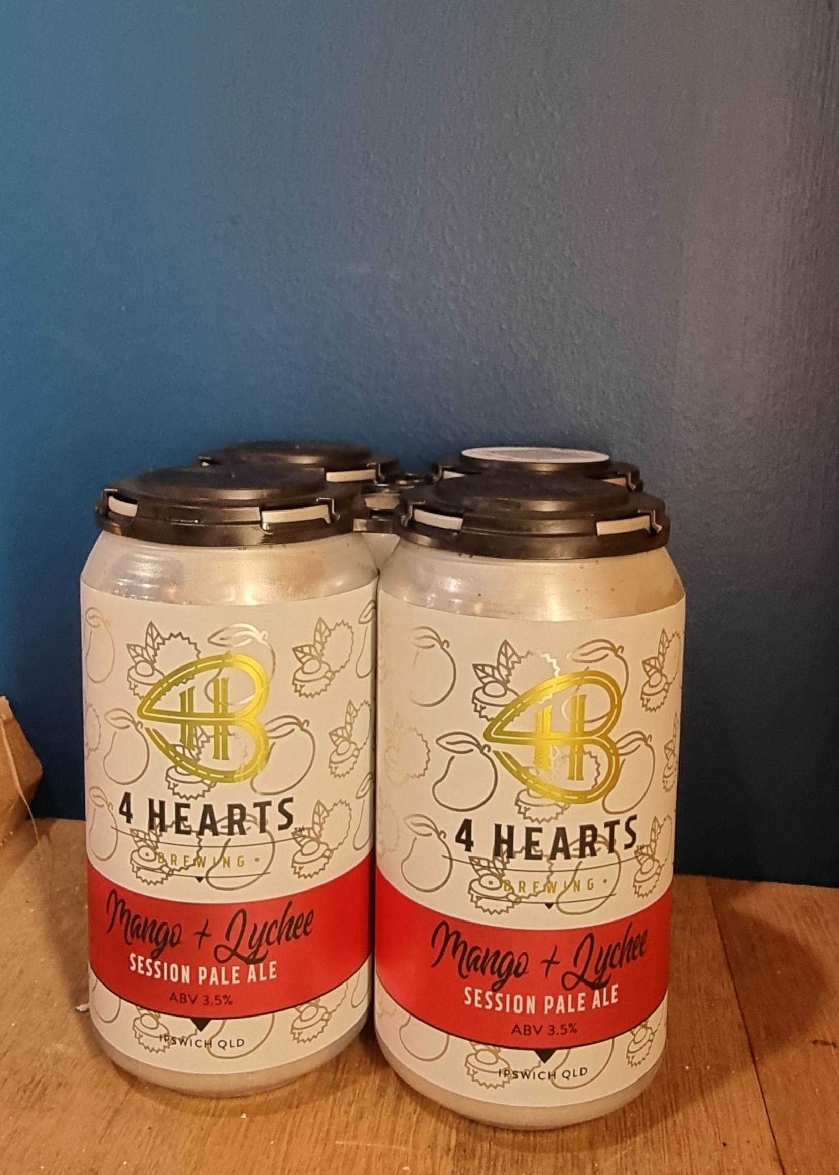 4 Hearts Brewing Mango and Lychee Session Ale