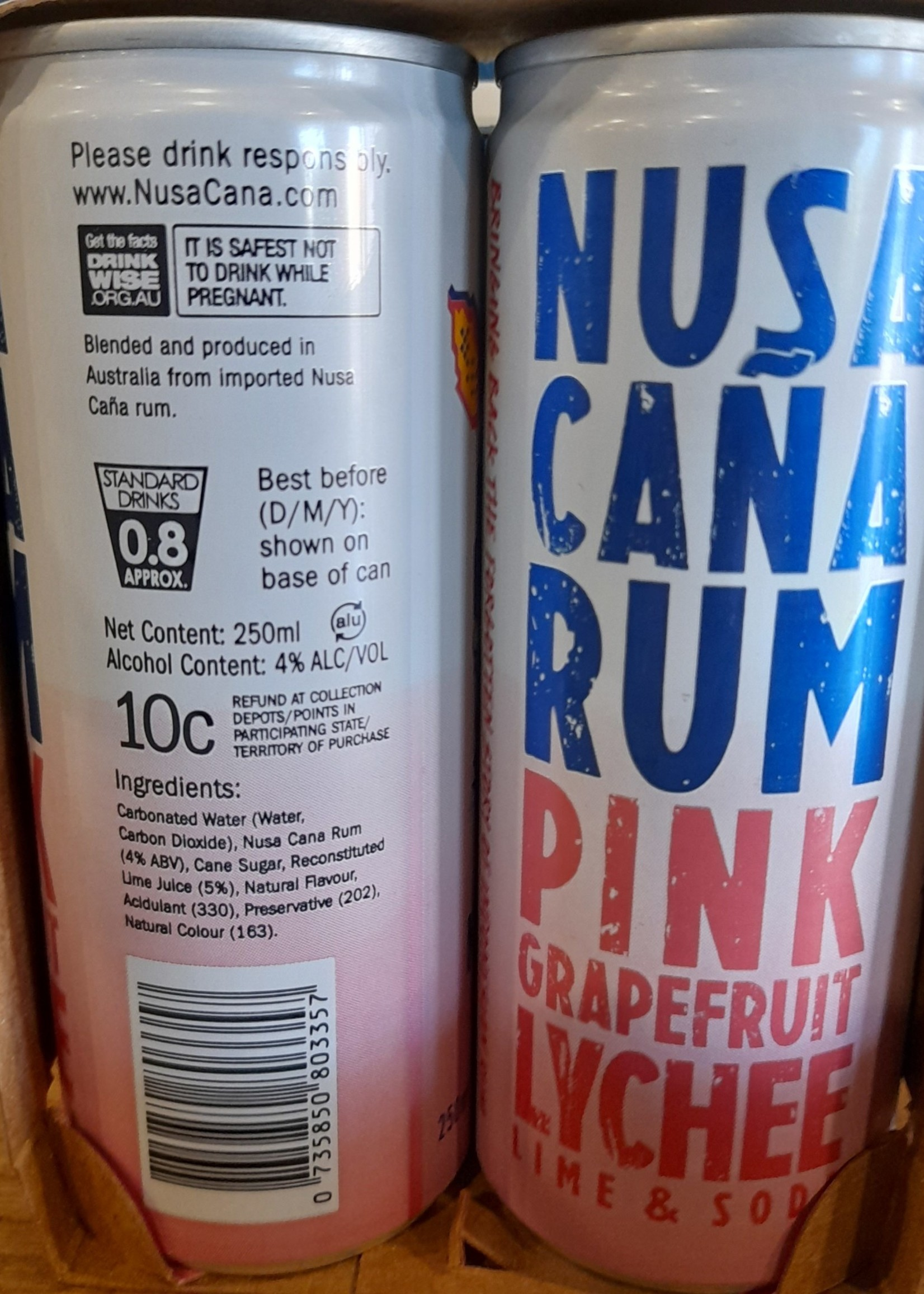 Nusa Cana Nusa Cana Grapefruit Spritz 4 Pack