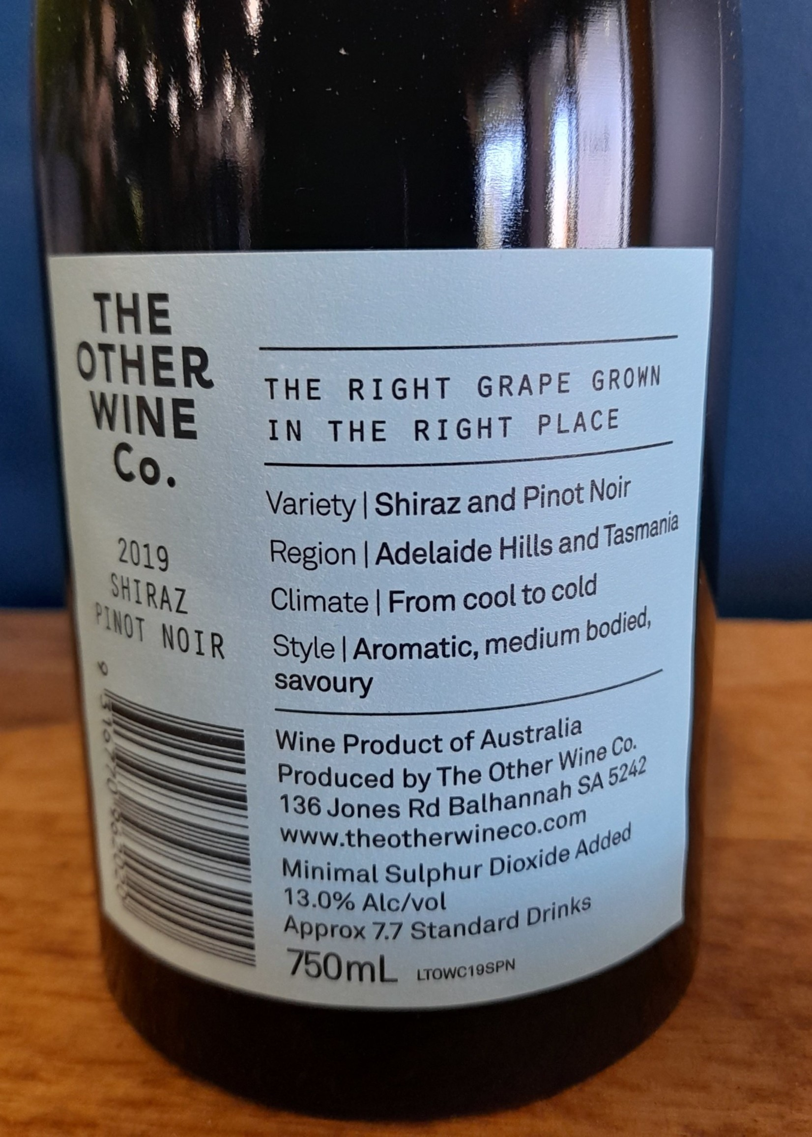 The Other Wine Co. The Other Wine Co Shiraz Pinot Noir 2019