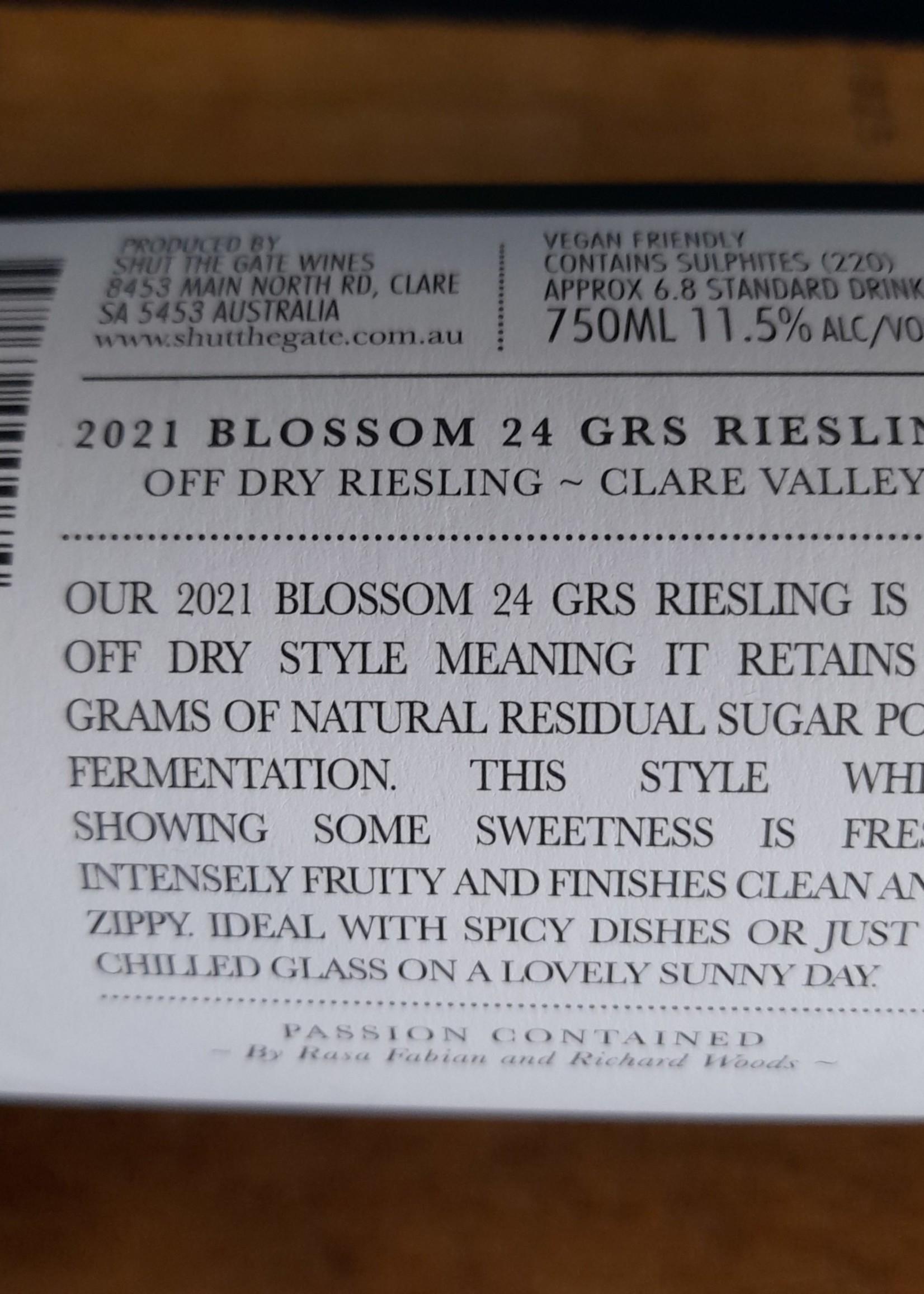 Shut The Gate Shut The Gate Blossom 24 GRS Riesling 2021