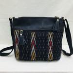 Craft Resource Centre Ikat design leather purse