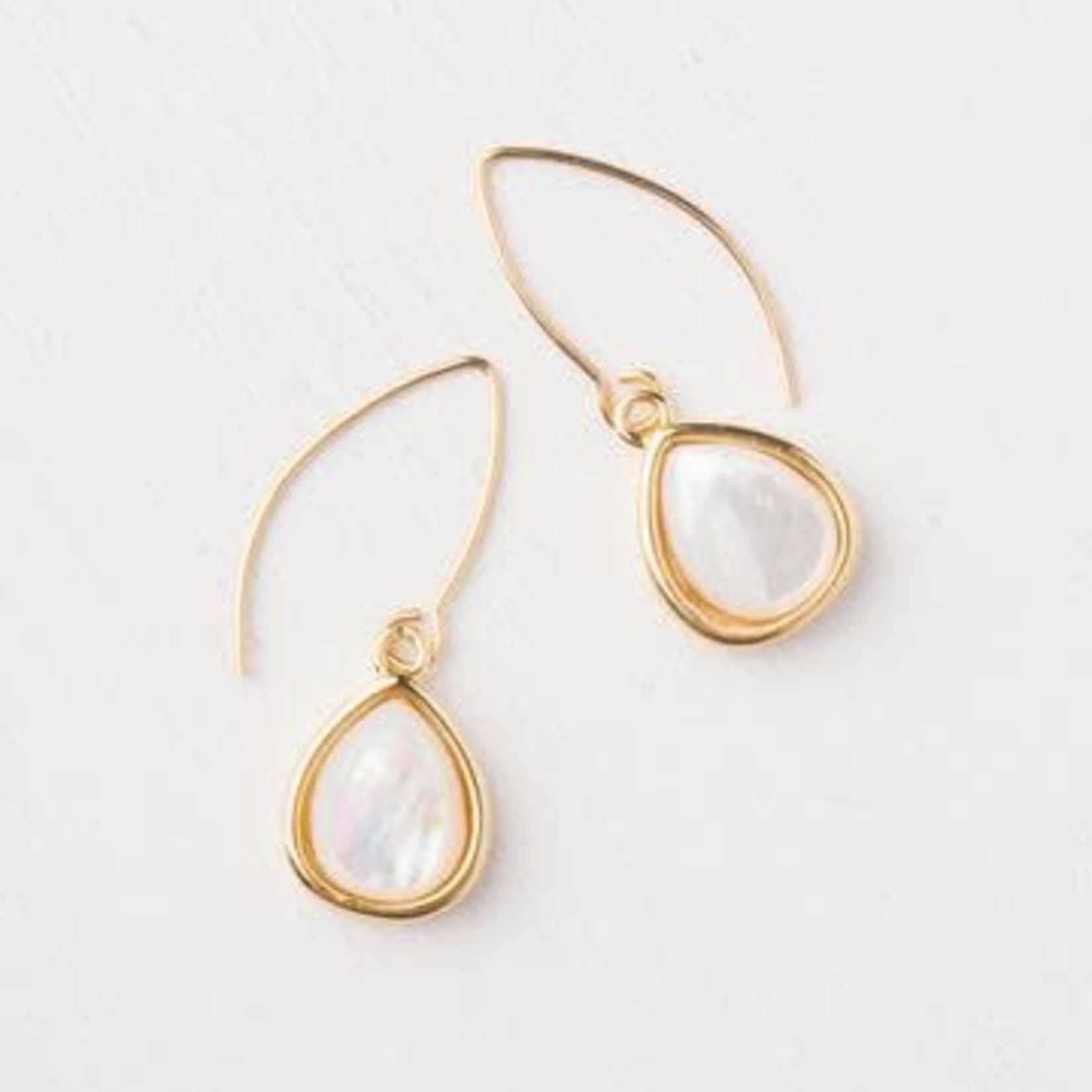 The Starfish Project Charity Gold Mother of Pearl Earrings, China