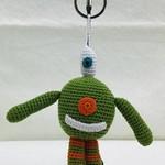 Crocheted Monster Zipper Pull - Green