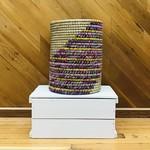 Recycled Sari/Kaisa Round Basket Large