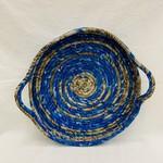 Sari Silk Coil Tray with Handles, India