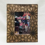Frame Embossed Floral Wood 5 x 7 photo