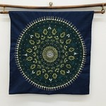 Green & Gold Medallion Wall Hanging