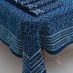 Sevya Handmade Indigo Tablecloth, India