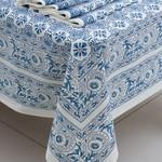 Sevya Handmade Blue Floral Tablecloth, India