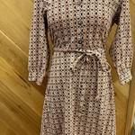 Ark Imports Jilly Dress Beige, Nepal