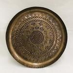 Tray Round Embossed Bronze Colour