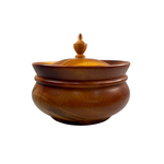 Women of the Cloud Forrest Tropical Hardwood Small Lidded Bowl, Nicaragua