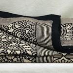 Black Paisley Cotton Tablecloth