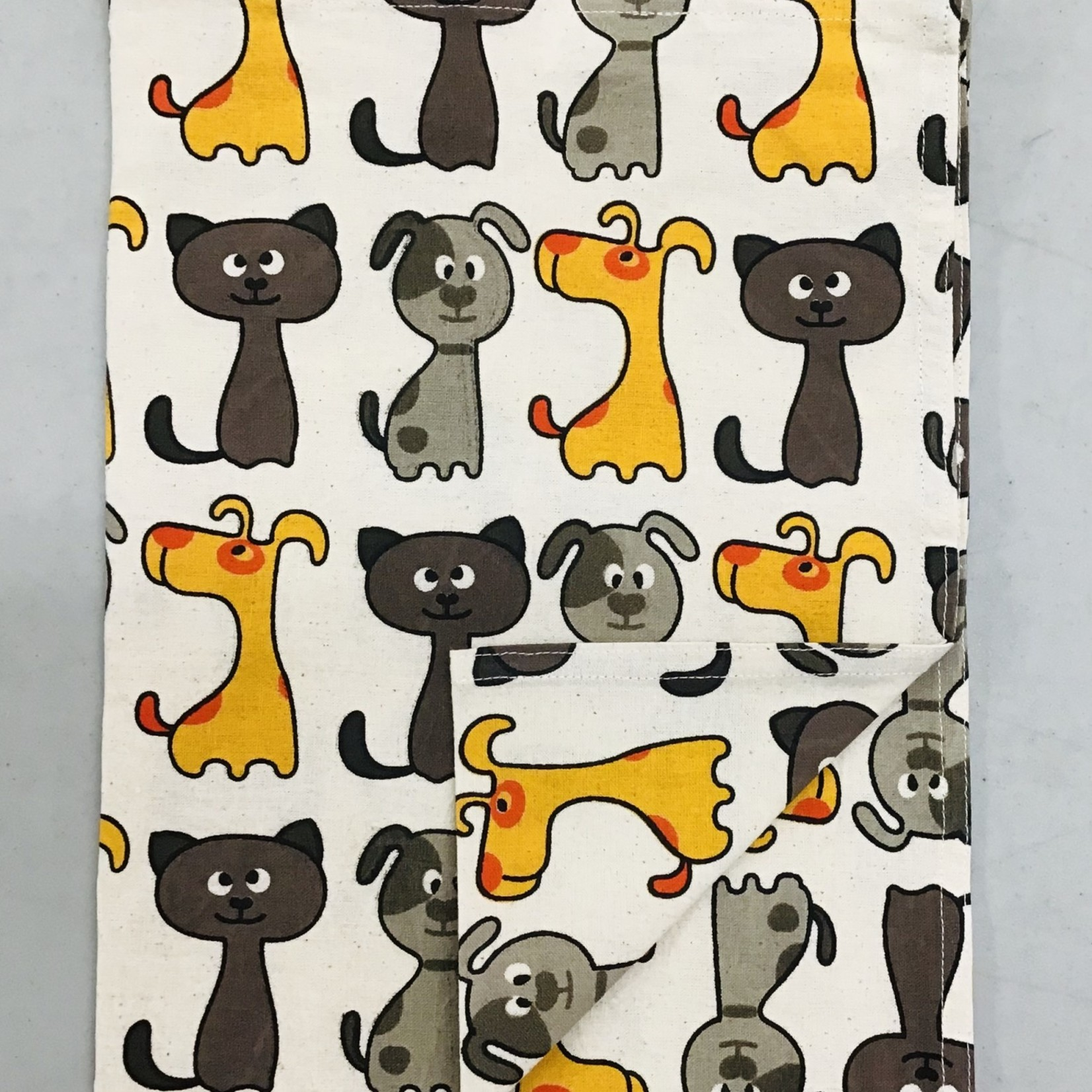 Cats and Dogs Tea Towel, India