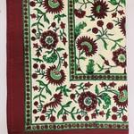 "Crimson Aster Tablecloth 60""x60"", India"